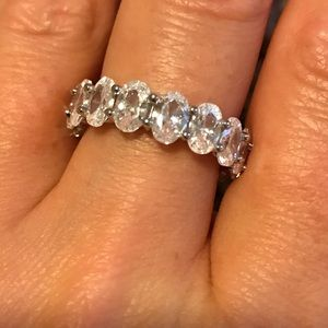 Jewelry - CZ sterling silver ring - NWT and pouch! Not worn